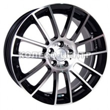 Racing Wheels H-408 7,5x17 5x100 ET45 DIA73,1 (BK-FP)